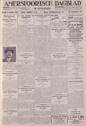 Amersfoortsch Dagblad / De Eemlander 1934-11-13