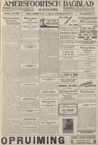 Amersfoortsch Dagblad / De Eemlander 1934-07-14