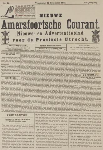 Nieuwe Amersfoortsche Courant 1915-09-22
