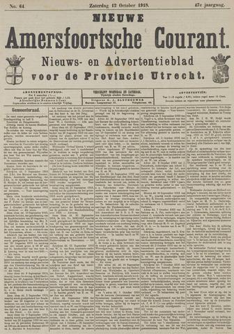 Nieuwe Amersfoortsche Courant 1918-10-12