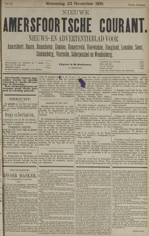 Nieuwe Amersfoortsche Courant 1881-11-23