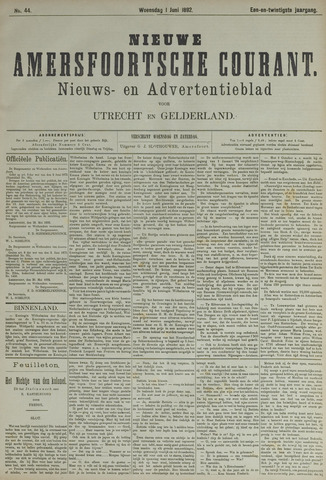 Nieuwe Amersfoortsche Courant 1892-06-01