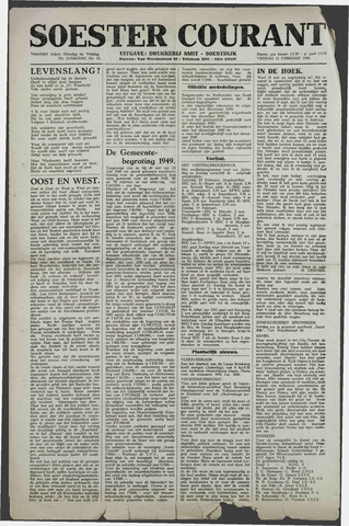 Soester Courant 1949-02-11