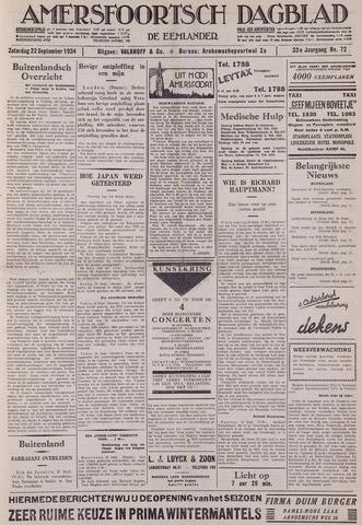 Amersfoortsch Dagblad / De Eemlander 1934-09-22