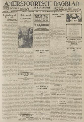 Amersfoortsch Dagblad / De Eemlander 1931-02-19