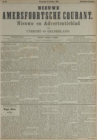 Nieuwe Amersfoortsche Courant 1885-10-21