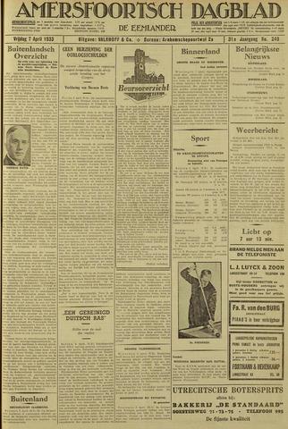 Amersfoortsch Dagblad / De Eemlander 1933-04-07