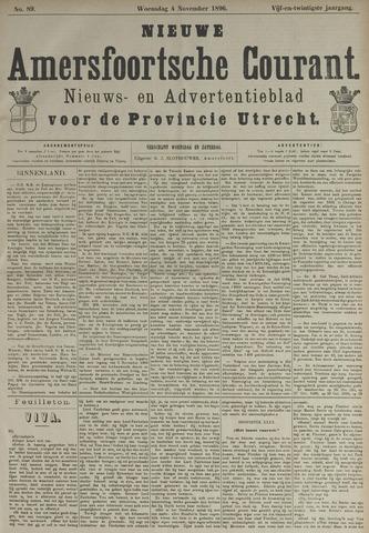 Nieuwe Amersfoortsche Courant 1896-11-04