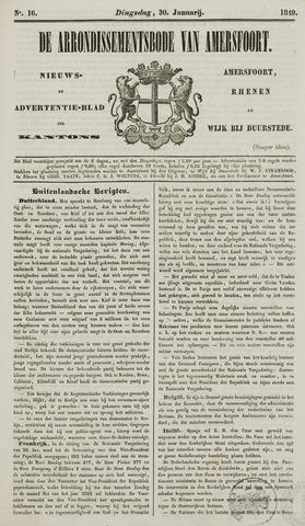 Arrondissementsbode van Amersfoort 1849-01-30