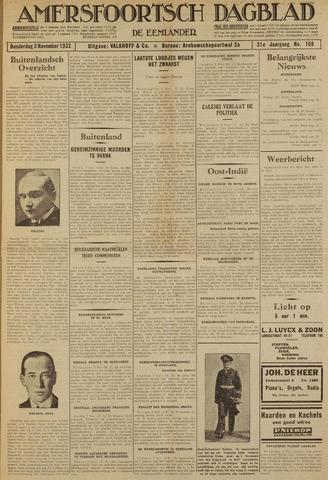 Amersfoortsch Dagblad / De Eemlander 1932-11-03