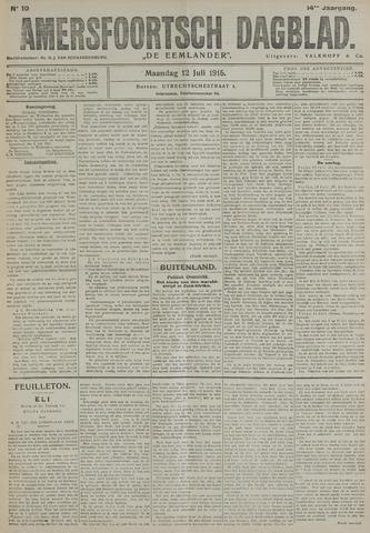 Amersfoortsch Dagblad / De Eemlander 1915-07-12
