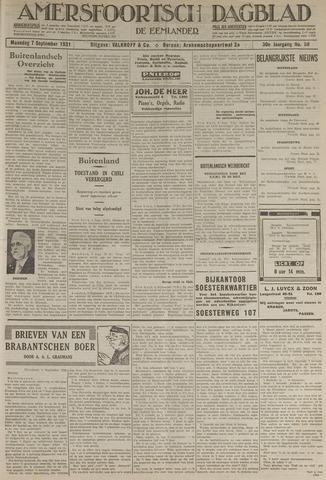 Amersfoortsch Dagblad / De Eemlander 1931-09-07