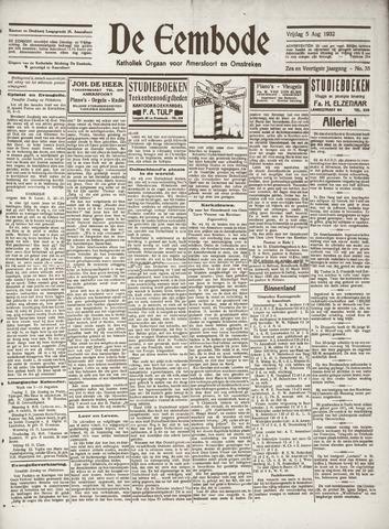 De Eembode 1932-08-05