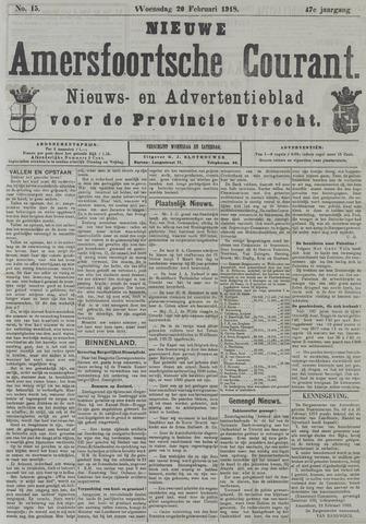Nieuwe Amersfoortsche Courant 1918-02-20