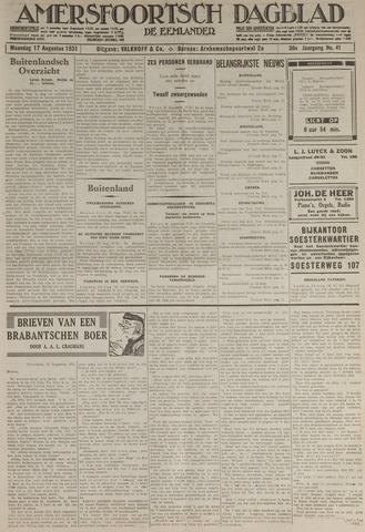 Amersfoortsch Dagblad / De Eemlander 1931-08-17