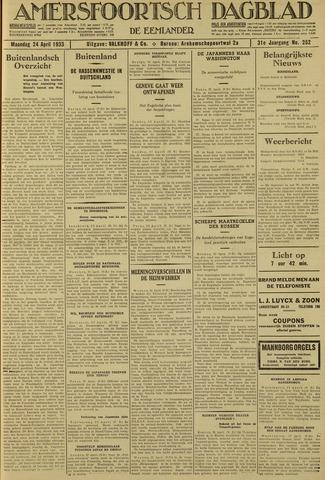 Amersfoortsch Dagblad / De Eemlander 1933-04-24