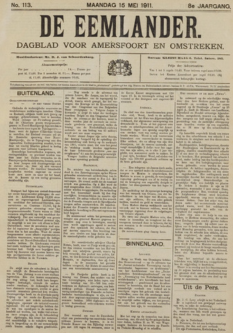 De Eemlander 1911-05-15