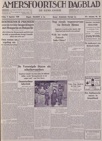 Amersfoortsch Dagblad / De Eemlander 1940-08-09