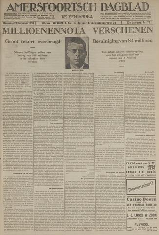 Amersfoortsch Dagblad / De Eemlander 1933-09-20