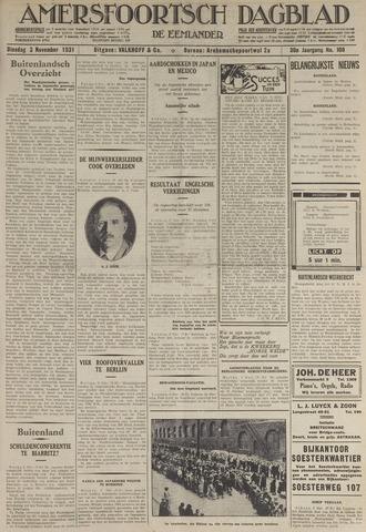 Amersfoortsch Dagblad / De Eemlander 1931-11-03
