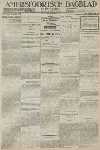Amersfoortsch Dagblad / De Eemlander 1928-11-07