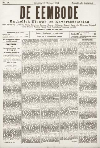 De Eembode 1903-10-10
