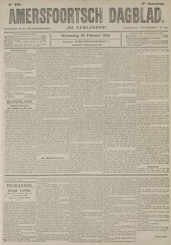 Amersfoortsch Dagblad / De Eemlander 1913-02-26
