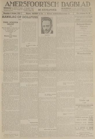 Amersfoortsch Dagblad / De Eemlander 1933-10-04