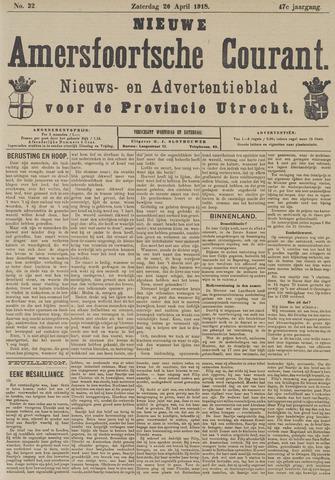Nieuwe Amersfoortsche Courant 1918-04-20