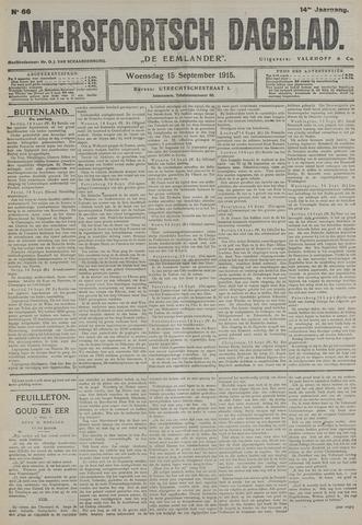 Amersfoortsch Dagblad / De Eemlander 1915-09-15