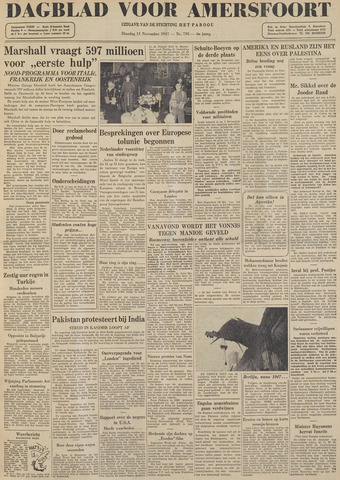 Dagblad voor Amersfoort 1947-11-11