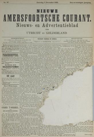 Nieuwe Amersfoortsche Courant 1892-12-03