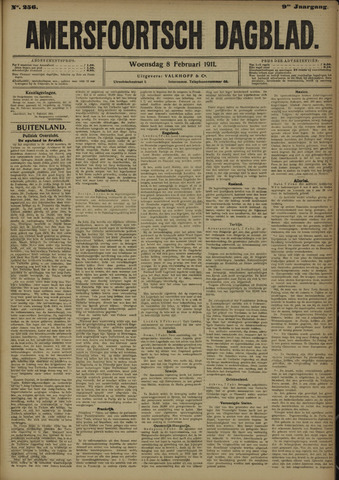 Amersfoortsch Dagblad 1911-02-08
