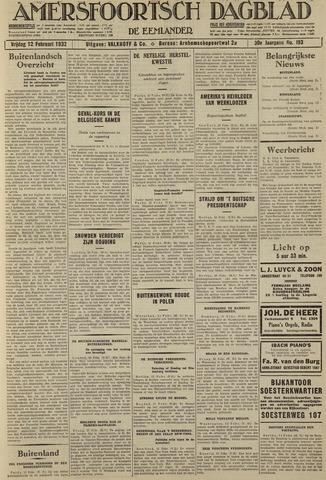 Amersfoortsch Dagblad / De Eemlander 1932-02-12