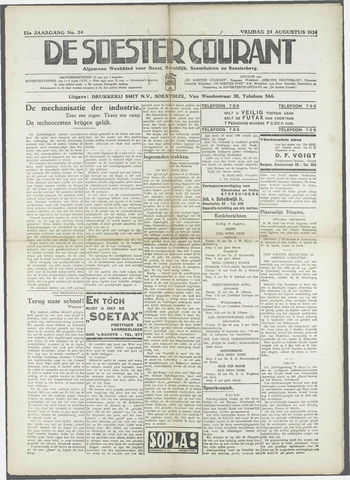 Soester Courant 1934-08-24