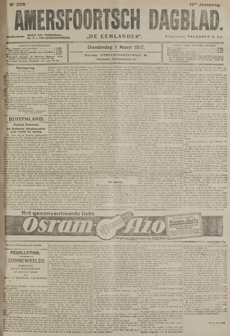 Amersfoortsch Dagblad / De Eemlander 1917-03-01
