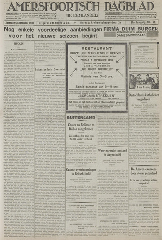 Amersfoortsch Dagblad / De Eemlander 1930-09-06