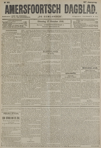 Amersfoortsch Dagblad / De Eemlander 1916-10-17