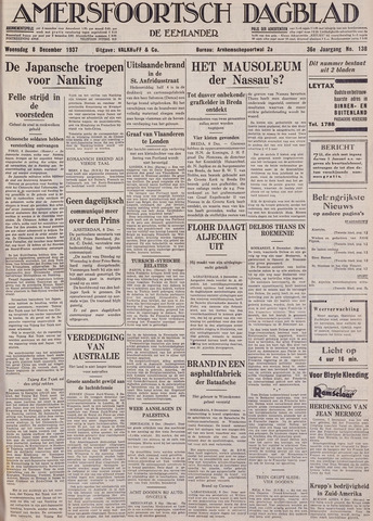 Amersfoortsch Dagblad / De Eemlander 1937-12-08