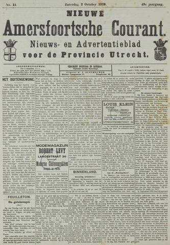 Nieuwe Amersfoortsche Courant 1920-10-02