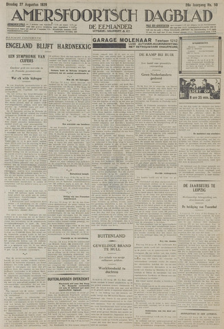 Amersfoortsch Dagblad / De Eemlander 1929-08-27
