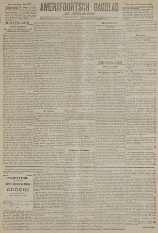 Amersfoortsch Dagblad / De Eemlander 1918-02-25