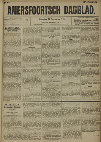 Amersfoortsch Dagblad 1911-08-14