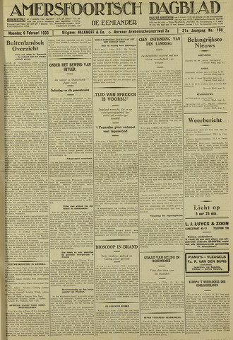 Amersfoortsch Dagblad / De Eemlander 1933-02-06