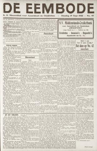 De Eembode 1922-09-19