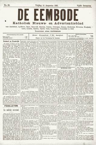 De Eembode 1891-08-14