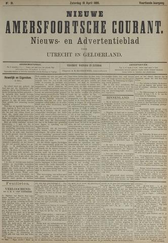 Nieuwe Amersfoortsche Courant 1885-04-18