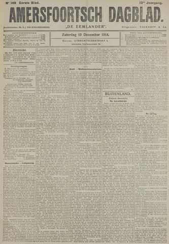 Amersfoortsch Dagblad / De Eemlander 1914-12-19