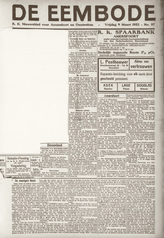 De Eembode 1923-03-09