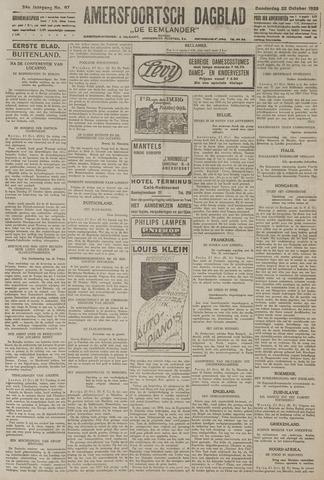 Amersfoortsch Dagblad / De Eemlander 1925-10-22
